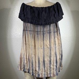 Viviana Uchitel Shibori Madrid Peasant silk top